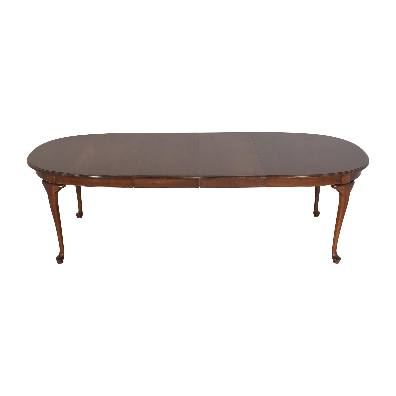 Ethan Allen Extendable Oval Dining Table Ethan Allen