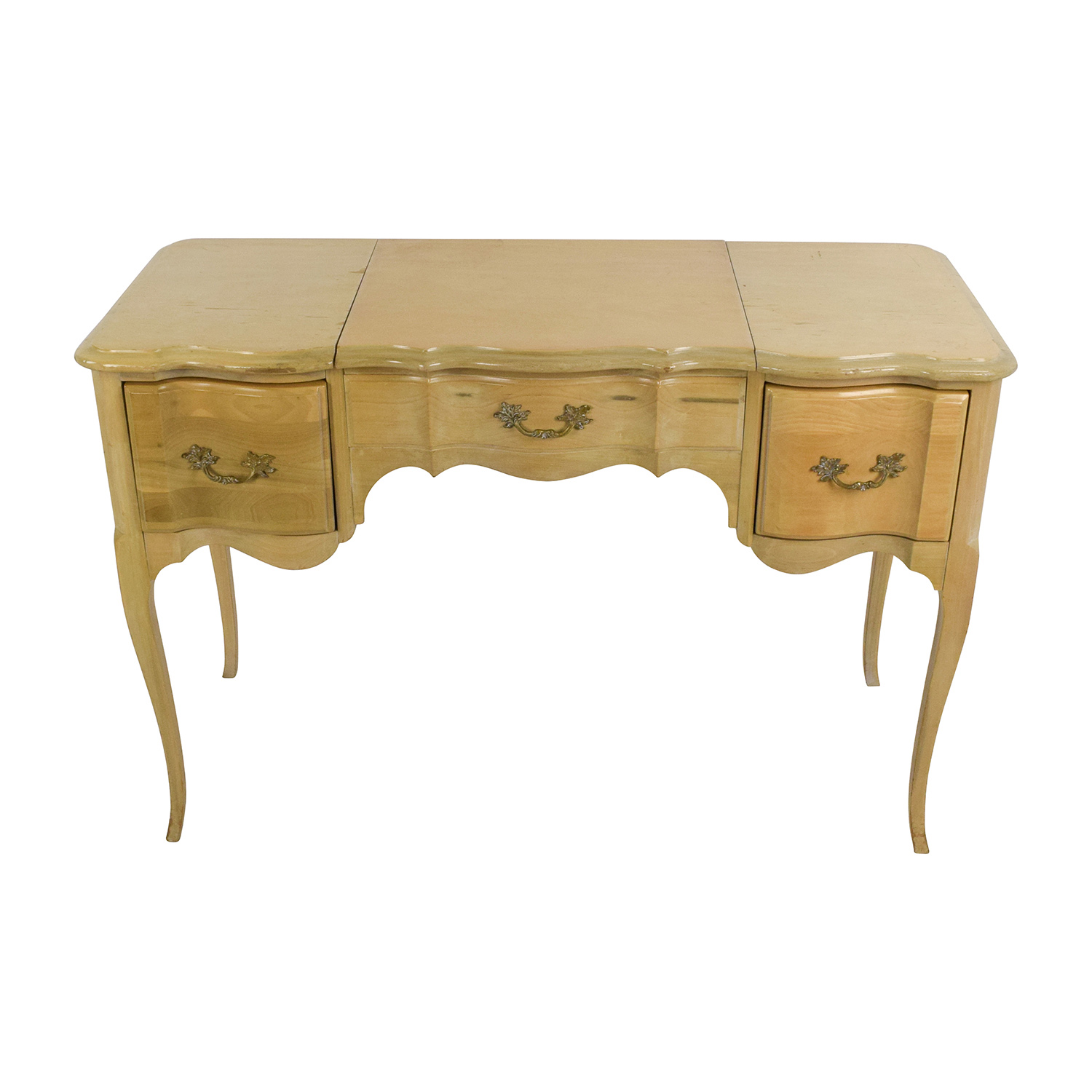 Light Wood Vanity Table with Hidden Mirror price