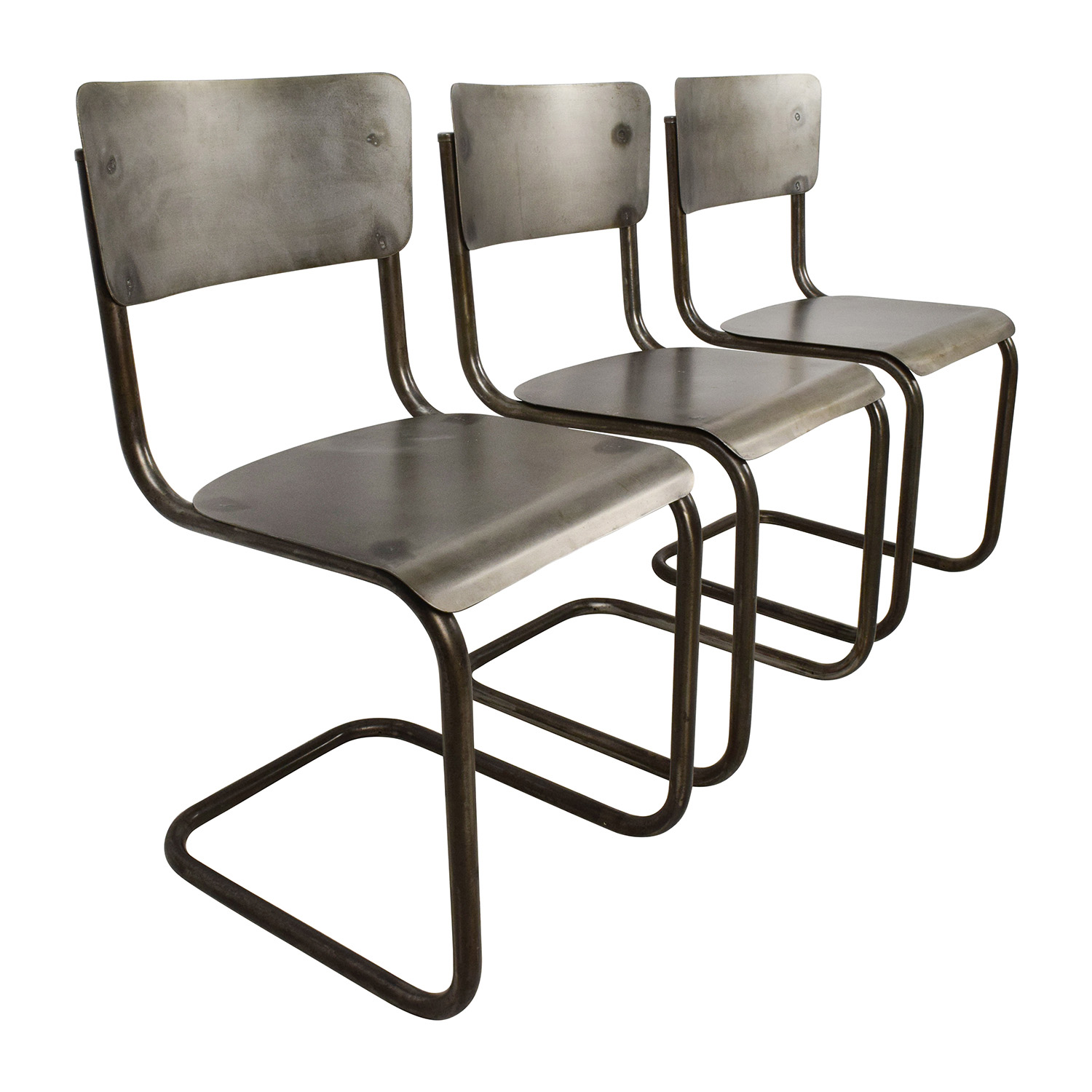 68 off industrial style metal chair set chairs for Chair chair chair