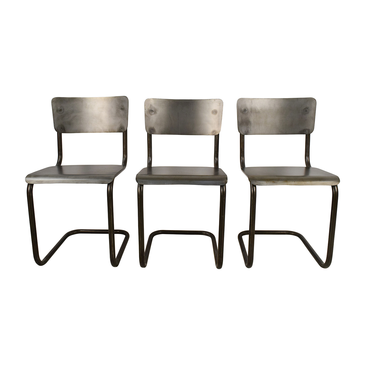 Industrial Style Metal Chair Set Dining Chairs