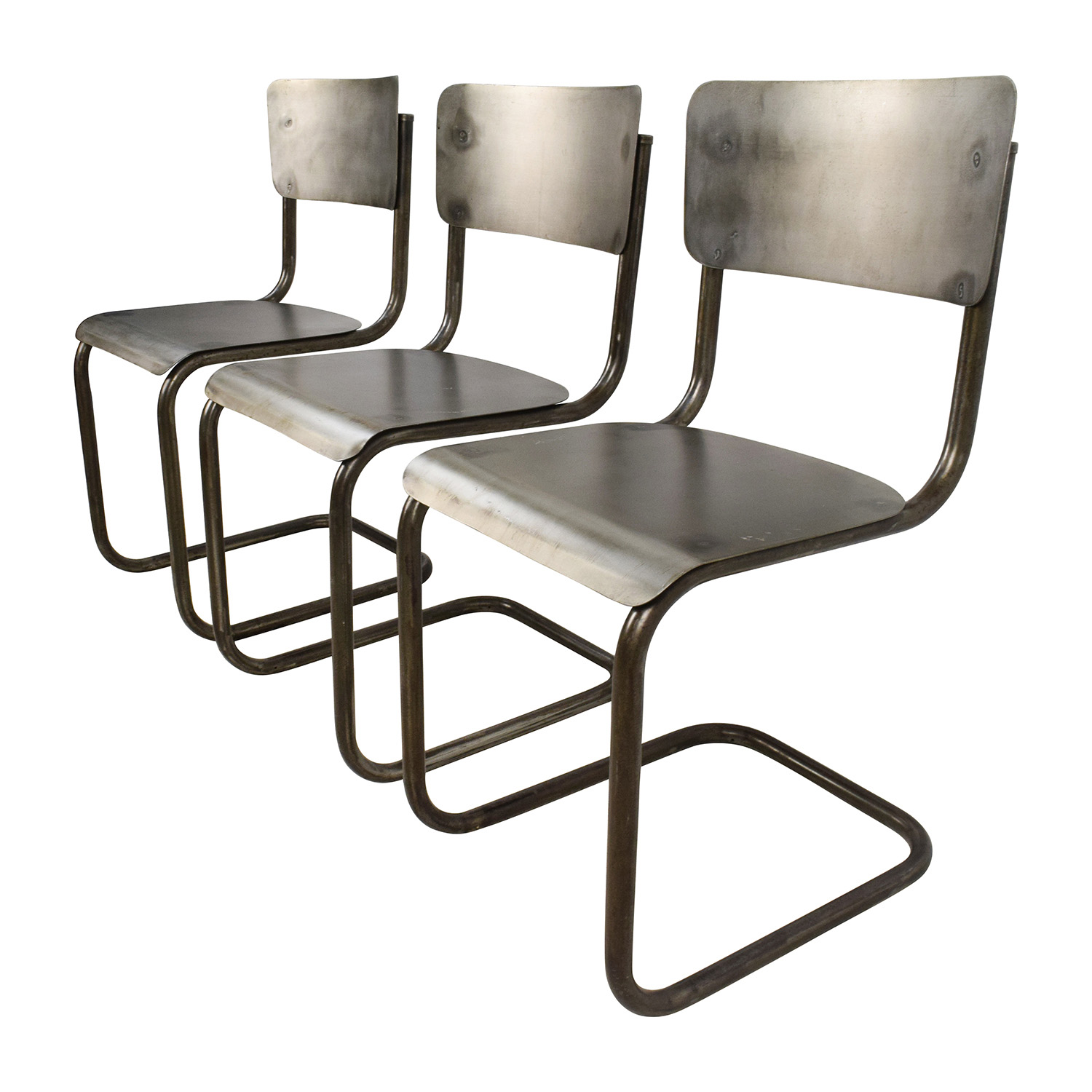 68% OFF Industrial Style Metal Chair Set Chairs