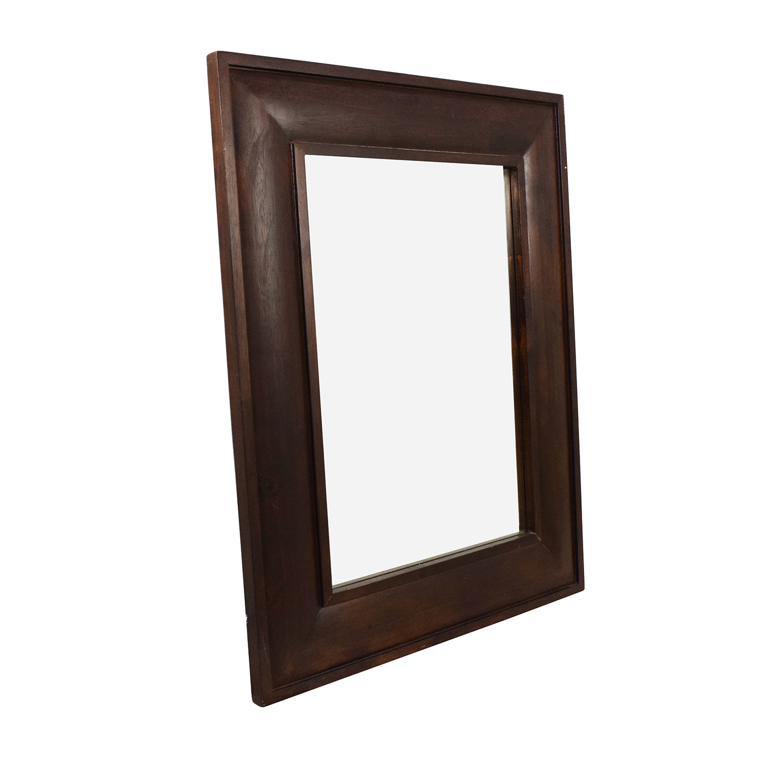 shop Square Wood Framed Hanging Mirror Decor