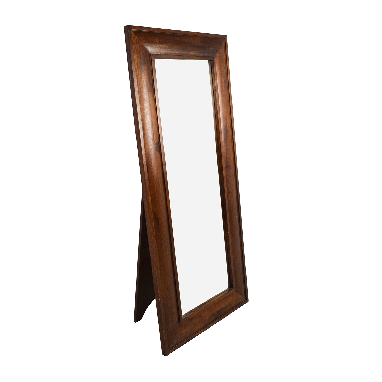 Large Wood Framed Standing Mirror discount