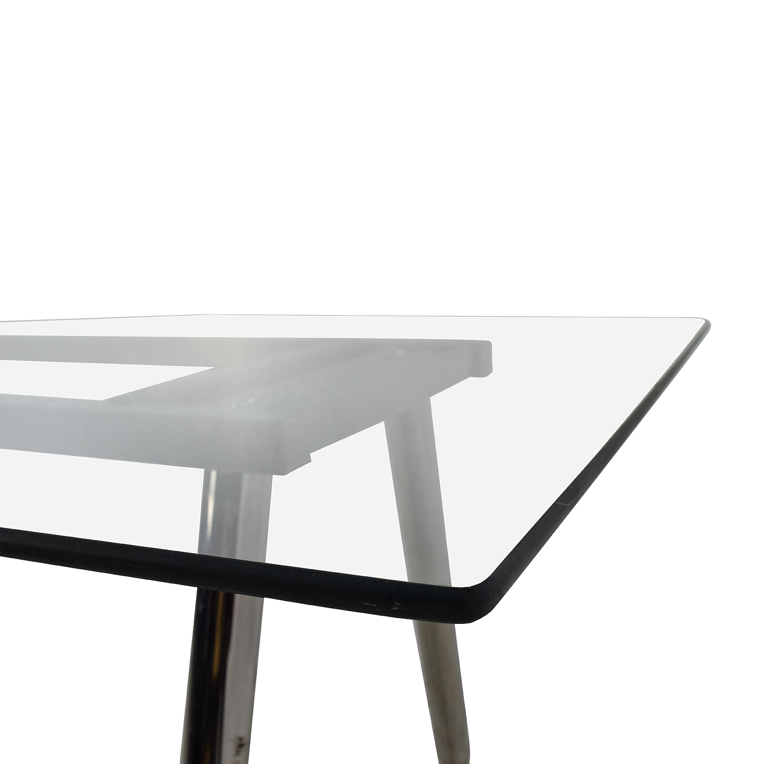 ... Glass Top Trestle Table With Metal Base Price