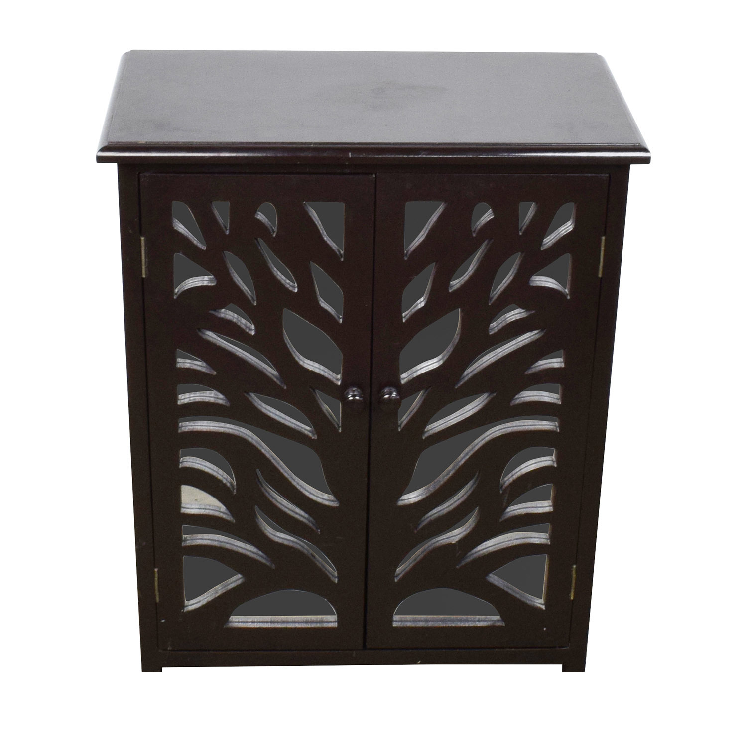 shop  Small Black Wood and Mirrored Chest online