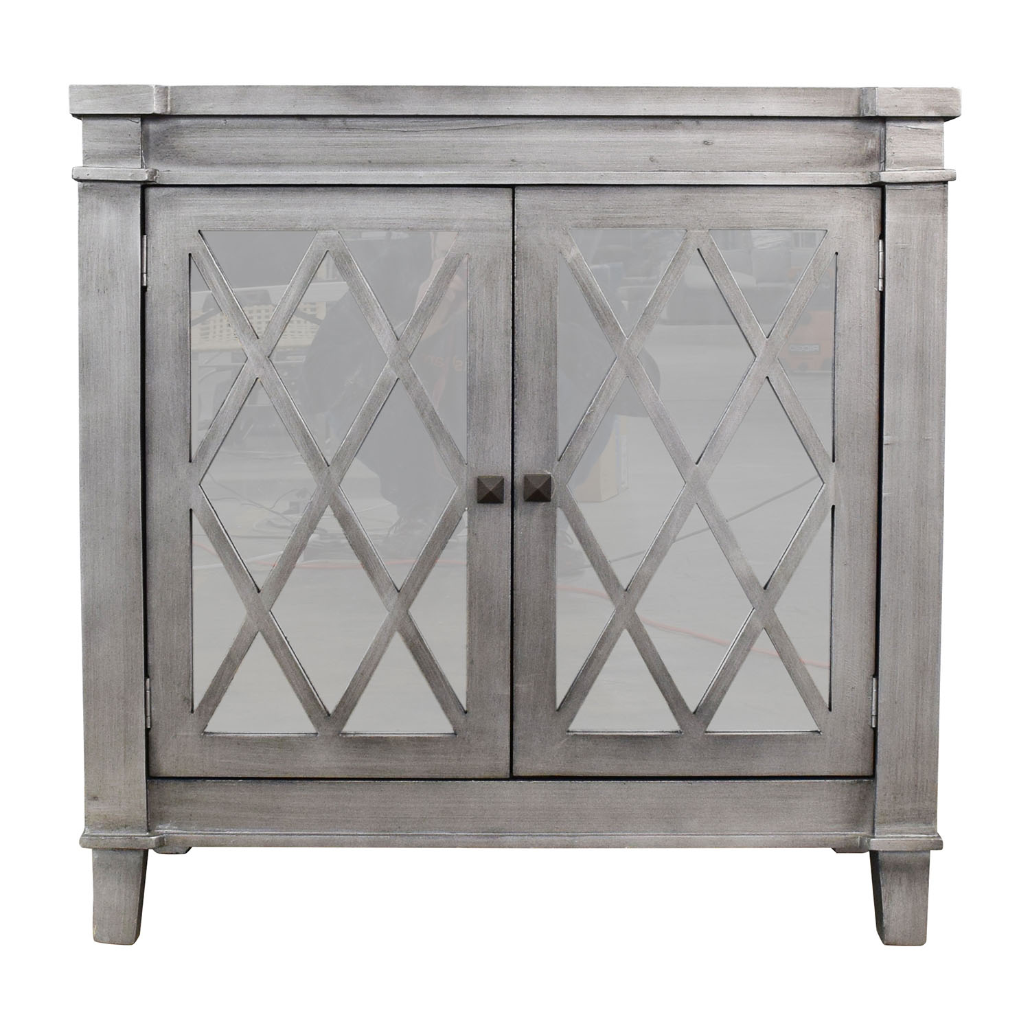 Mirrored Chest with Silver Trim dimensions