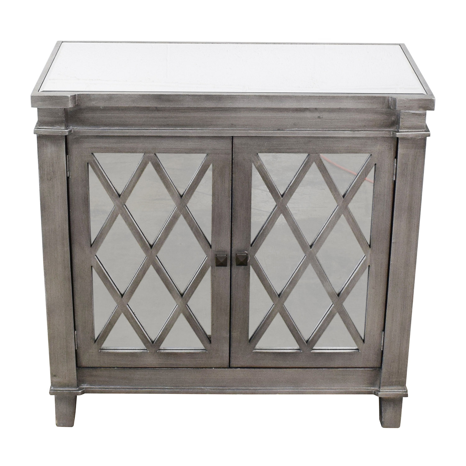 Mirrored Chest with Silver Trim nj