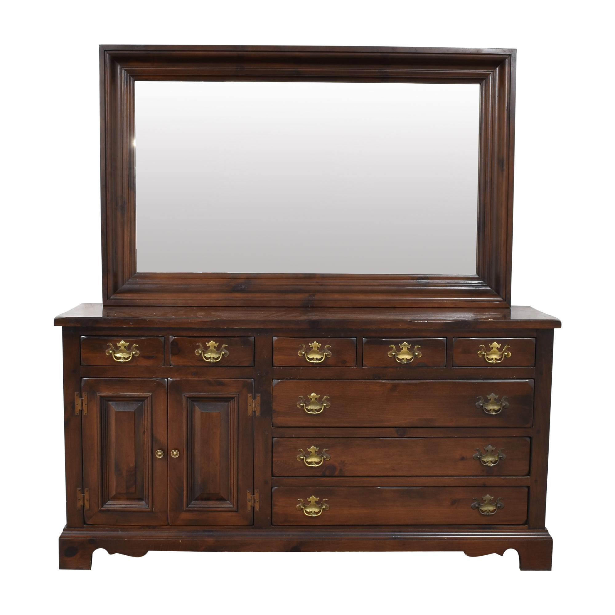 shop Ethan Allen Ethan Allen Door Dresser with Mirror  online