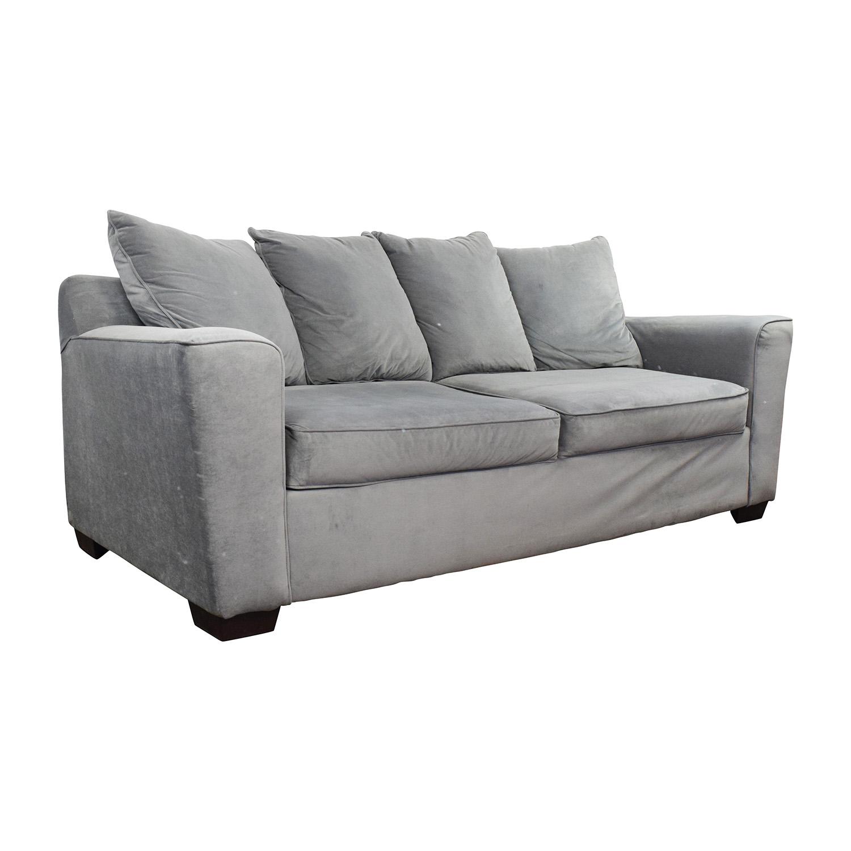71 Off Jennifer Convertibles Jennifer Convertibles Gray Sofa Sofas