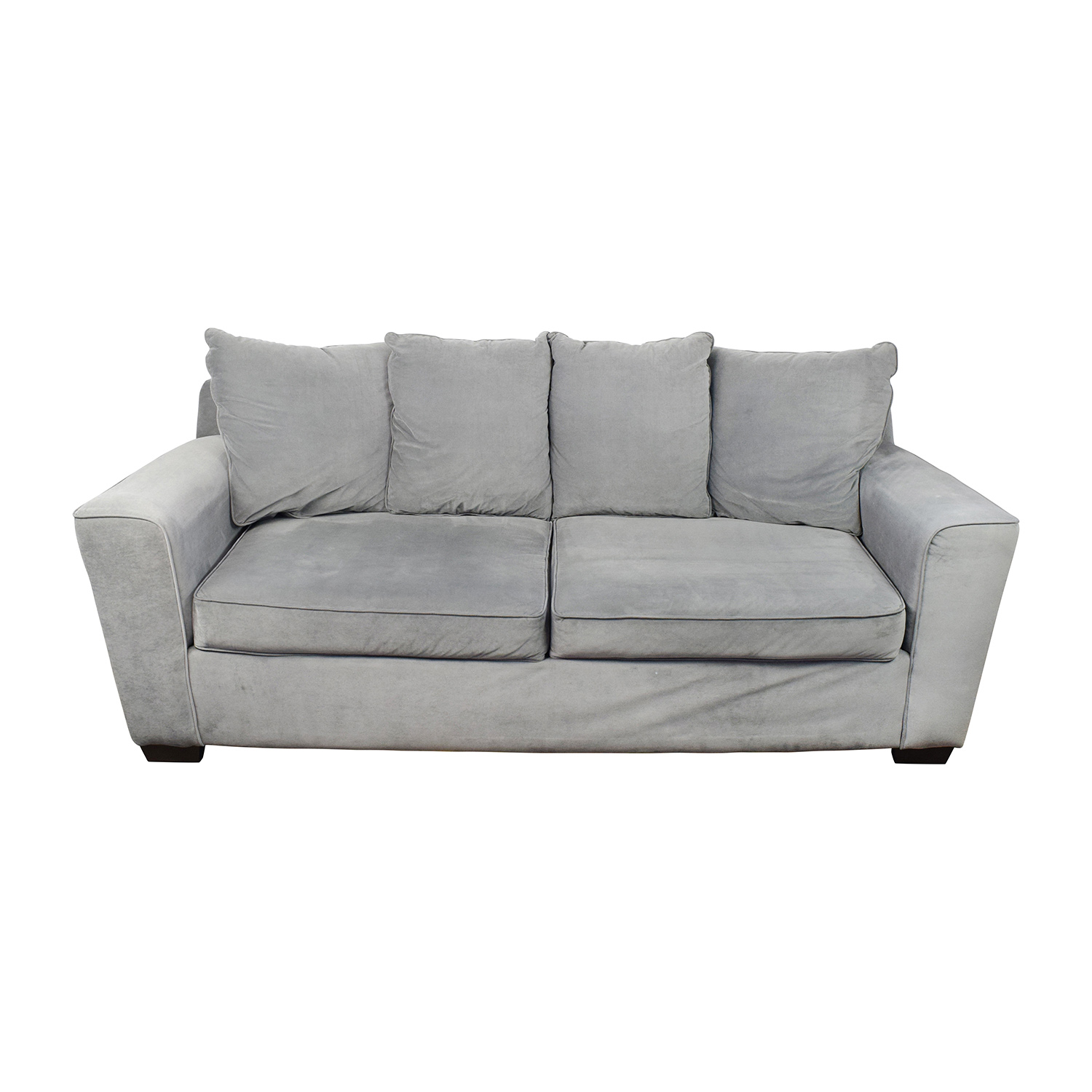71 off jennifer convertibles jennifer convertibles gray for Sectional sofa jennifer convertible
