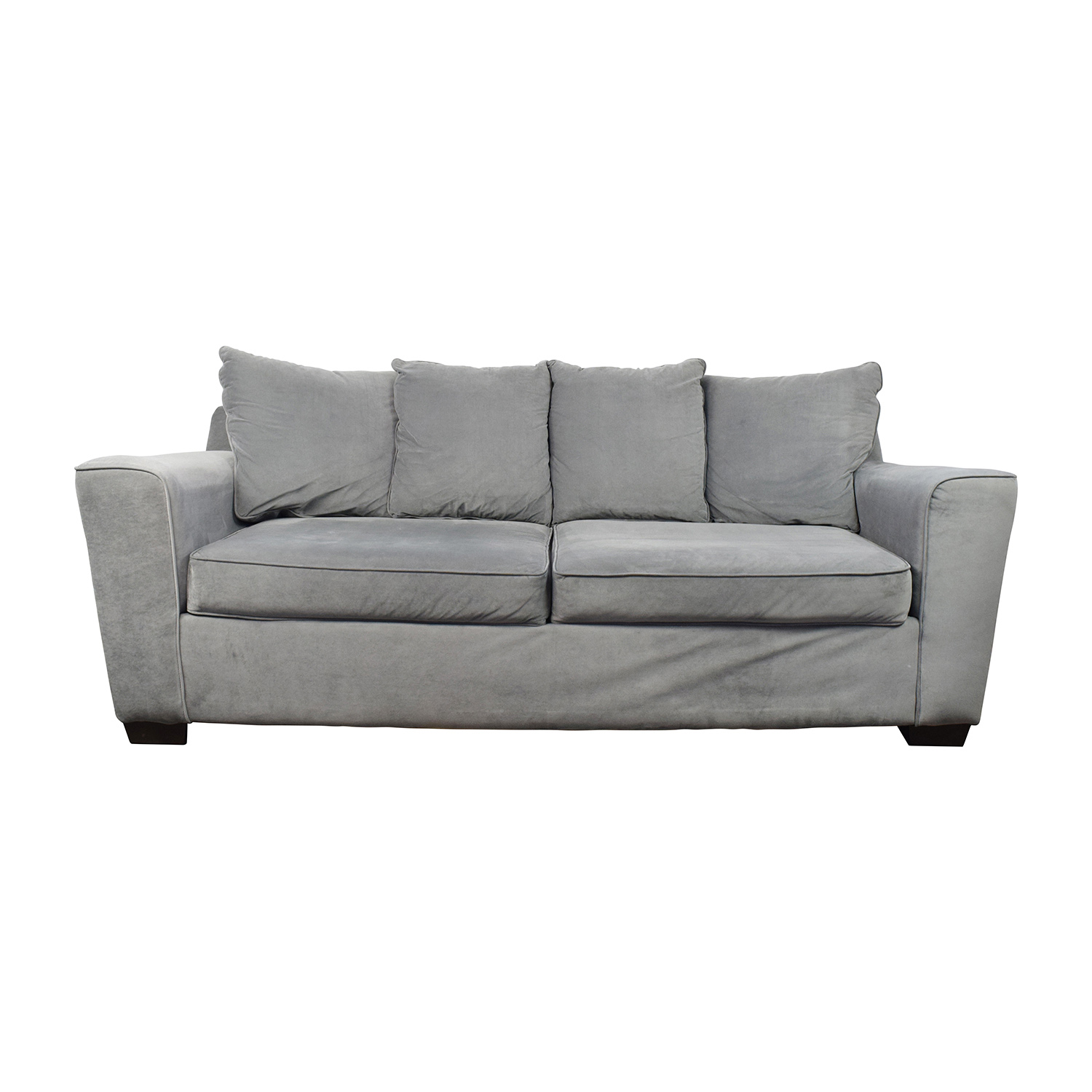 Jennifer Convertibles Gray Sofa / Sofas