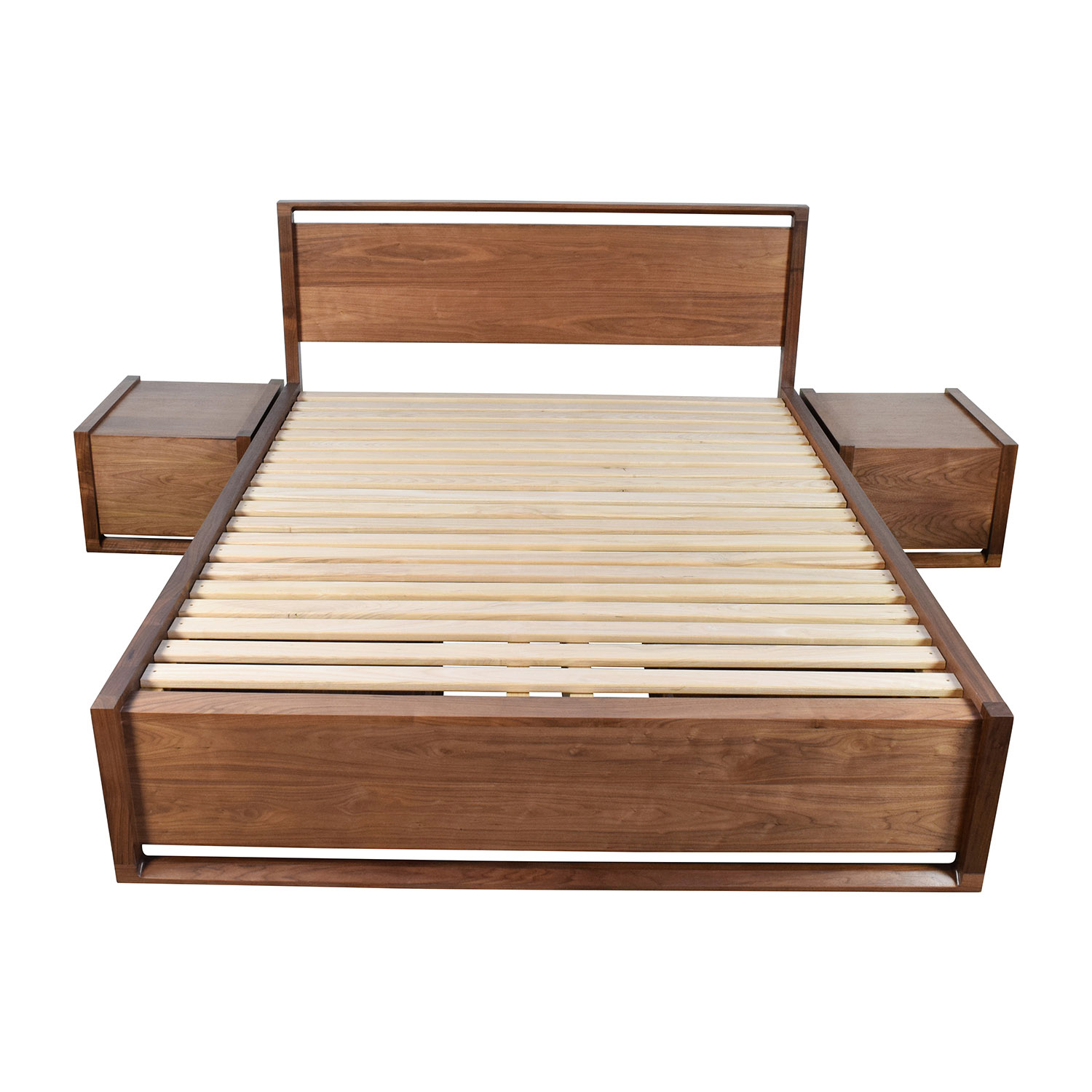 design within reach design within reach queen bed frame with end tables nj - Used Bed Frames