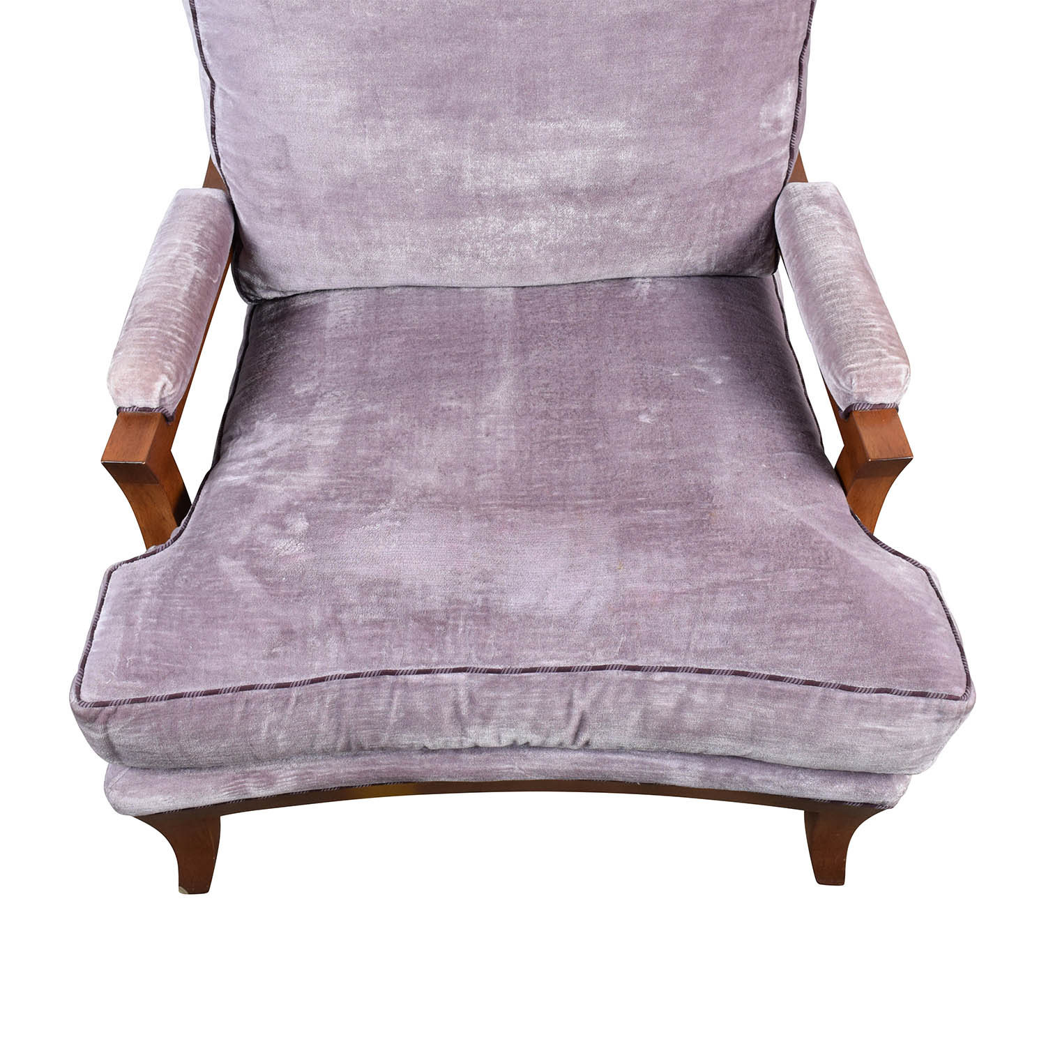 87% OFF Purple Velvet Accent Arm Chair Chairs