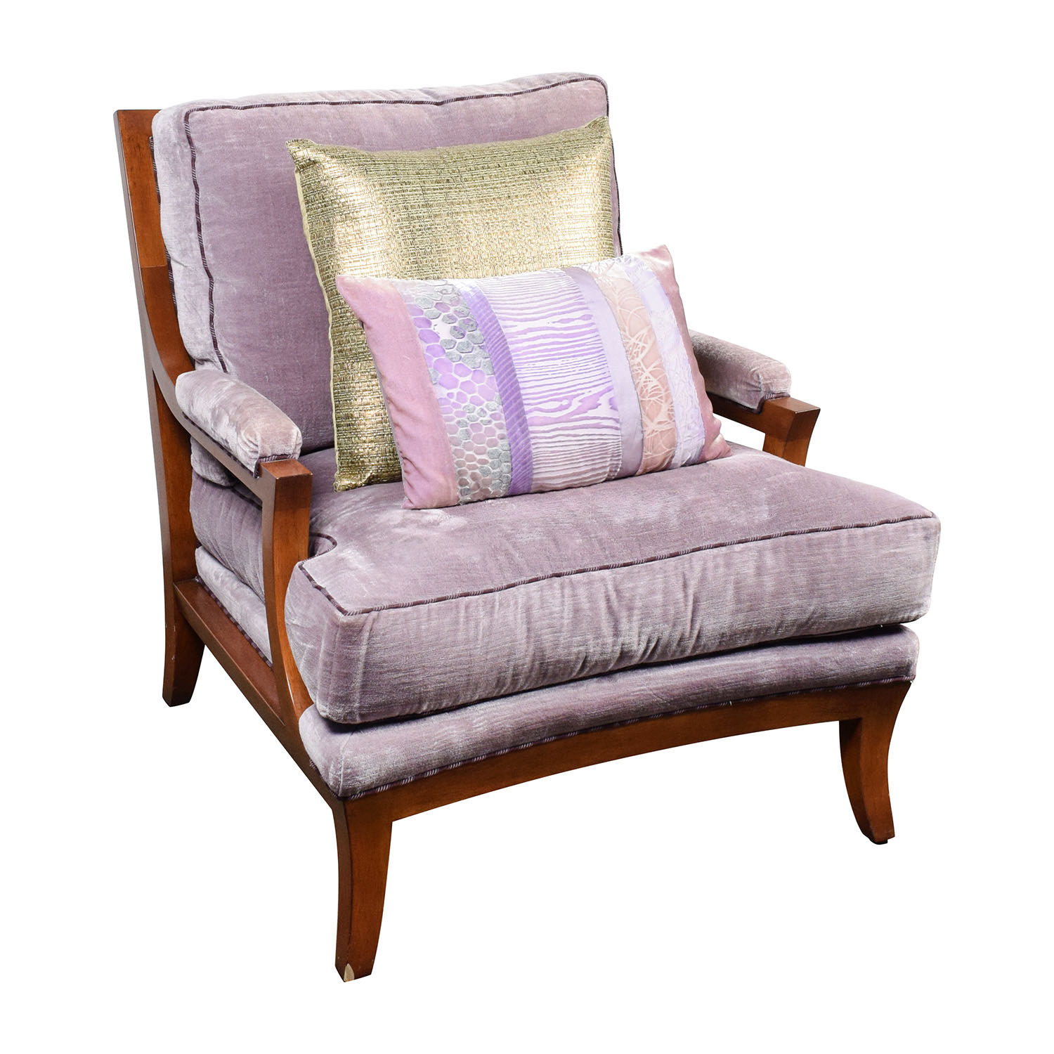 purple velvet accent arm chair discount
