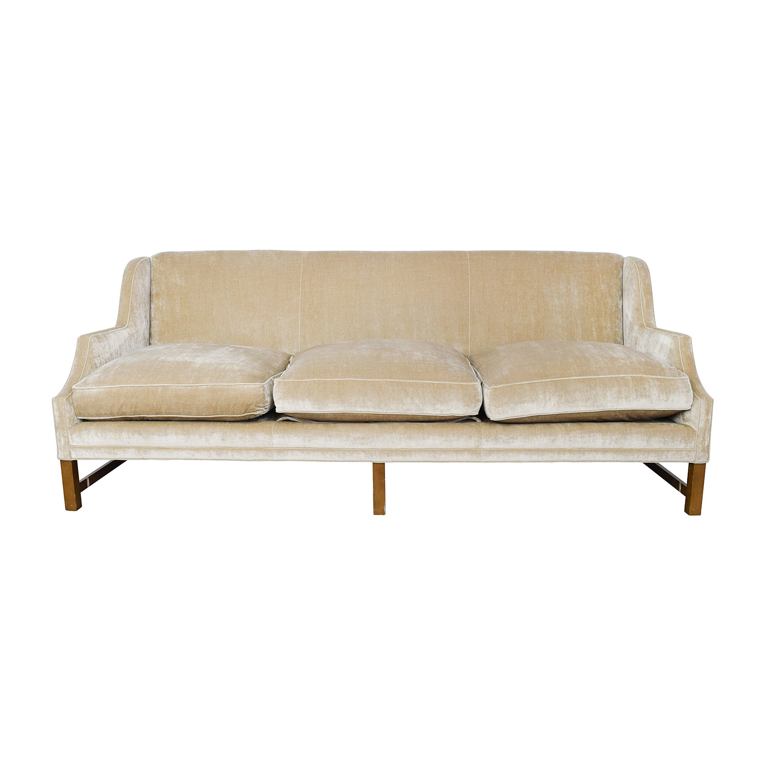 O. Henry O. Henry Taupe Velvet Couch second hand
