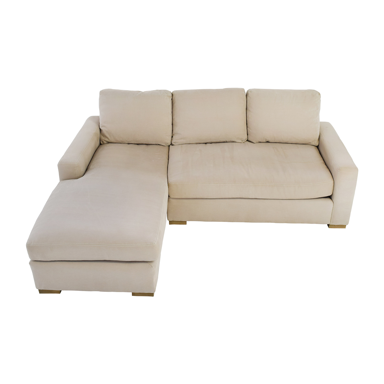 buy Restoration Hardware Petite Maxwell Beige Chaise Sectional Restoration Hardware Sofas