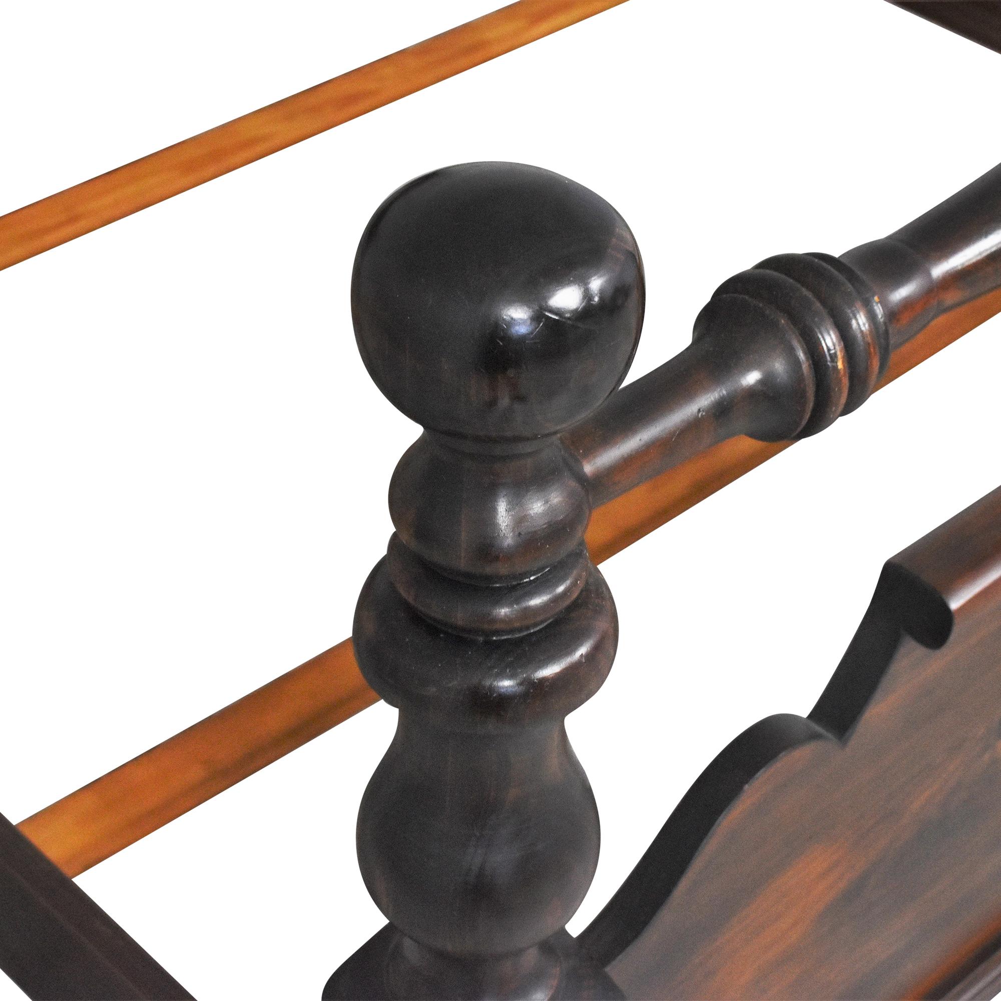 buy Vintage Cannonball Full Bed Frame   Bed Frames
