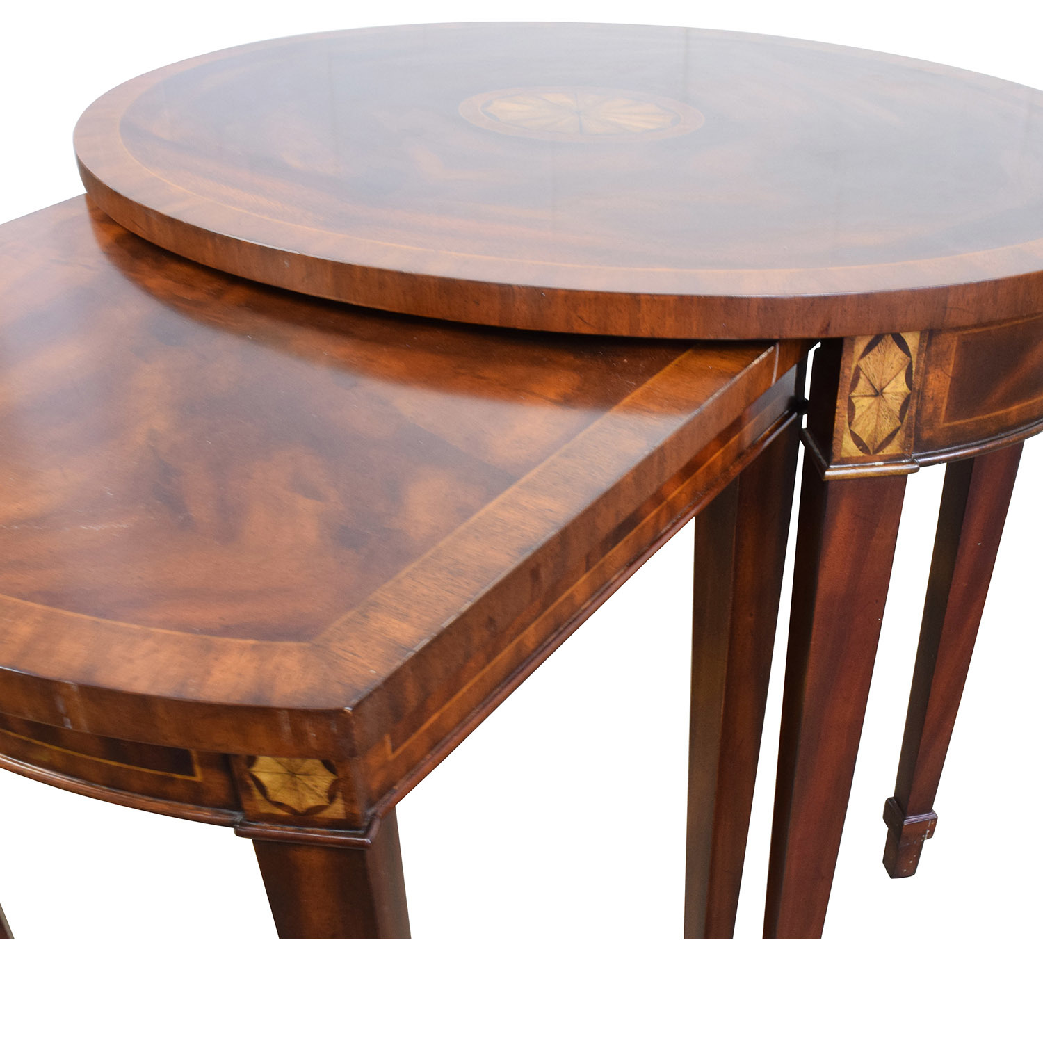 43% OFF Antique Reproduction Wood Nesting Side Tables Tables