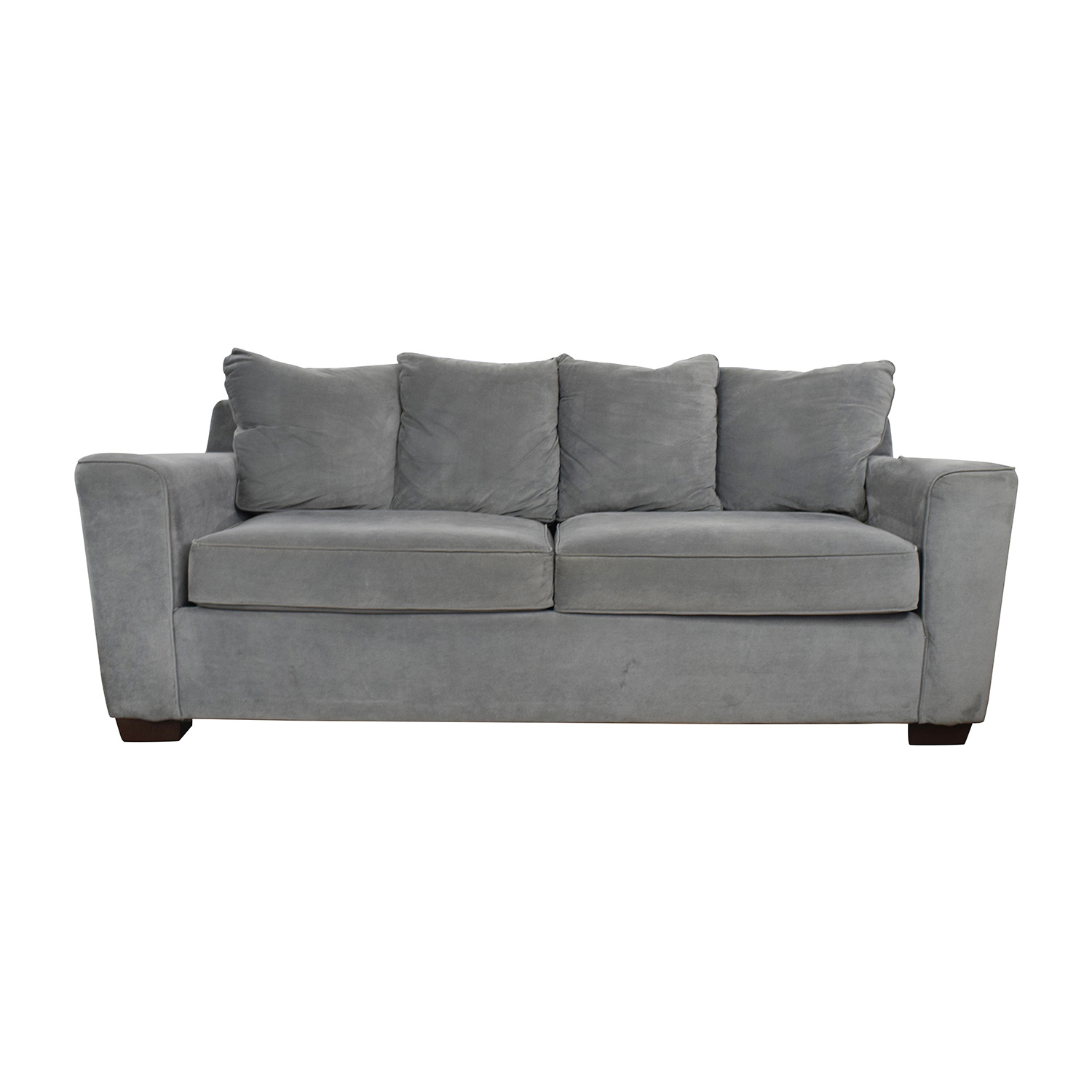 Jennifer Convertibles Grey Couch sale