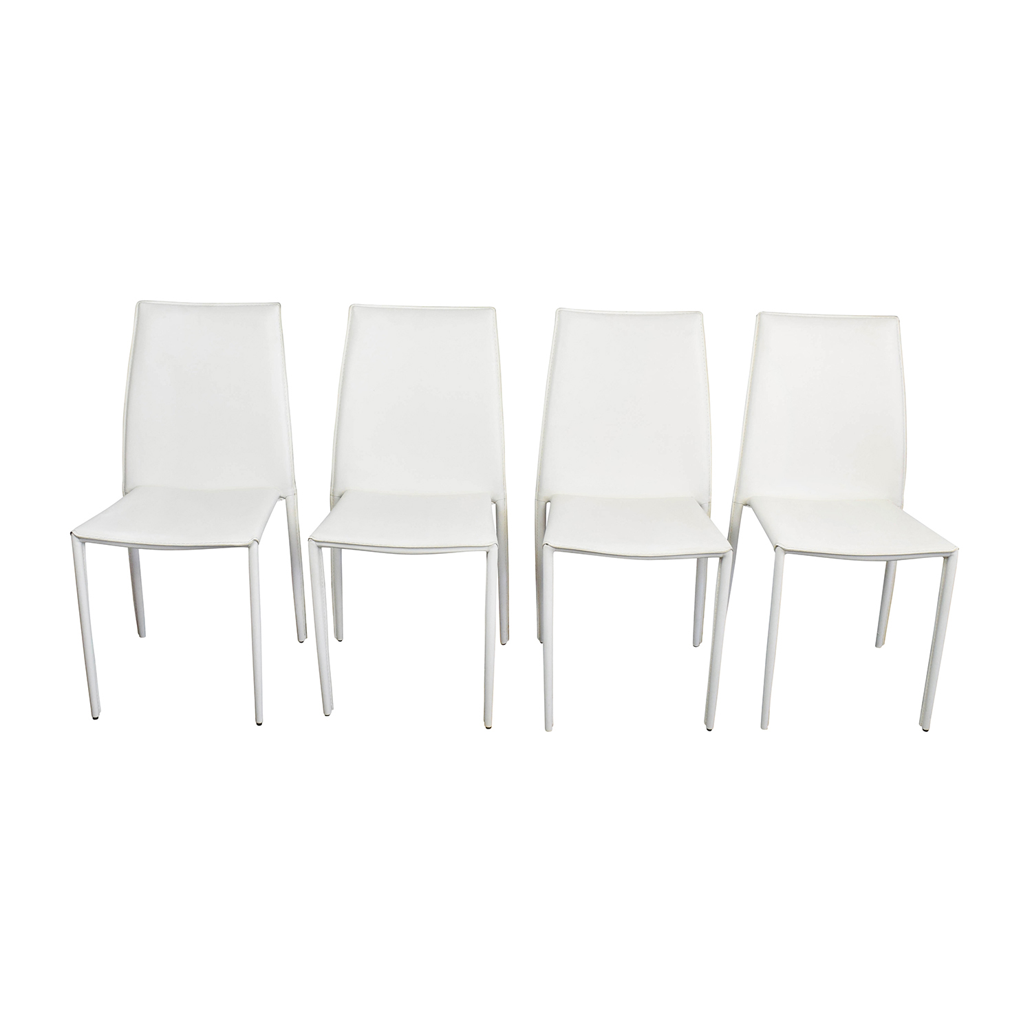 Swell 77 Off Allmodern All Modern White Leather Dining Chairs Chairs Caraccident5 Cool Chair Designs And Ideas Caraccident5Info