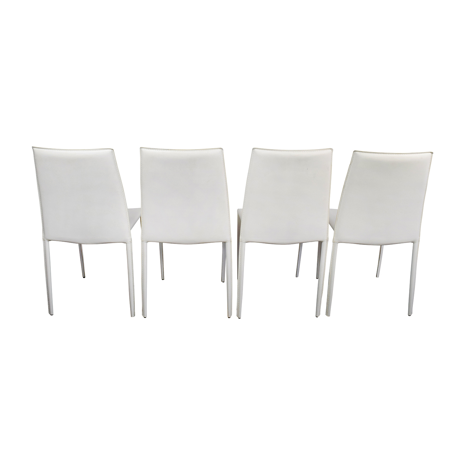 Surprising 77 Off Allmodern All Modern White Leather Dining Chairs Chairs Caraccident5 Cool Chair Designs And Ideas Caraccident5Info
