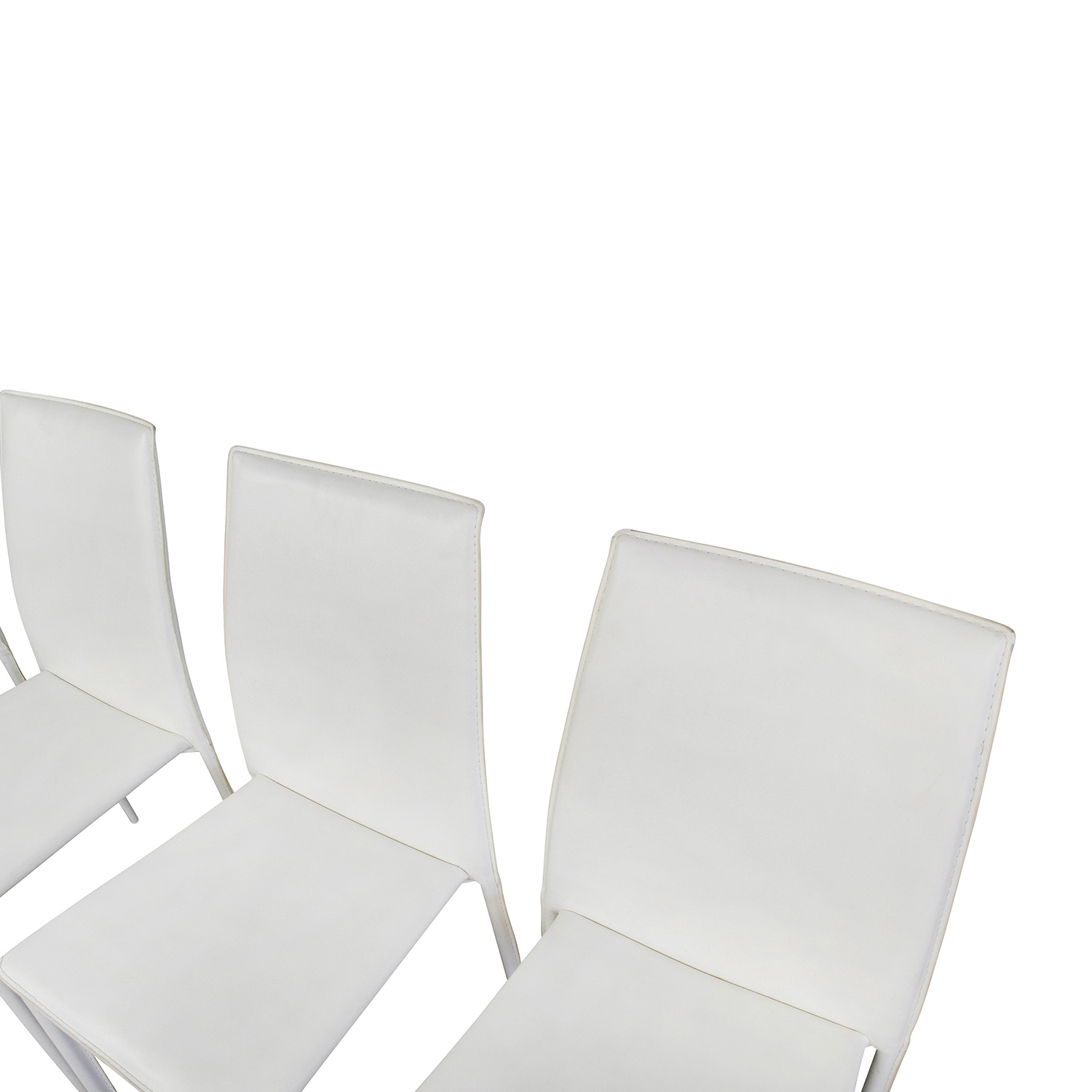 77 off all modern all modern white leather dining chairs chairs