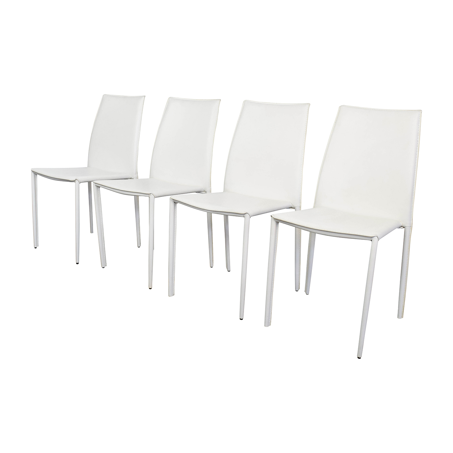 Super 77 Off Allmodern All Modern White Leather Dining Chairs Chairs Caraccident5 Cool Chair Designs And Ideas Caraccident5Info