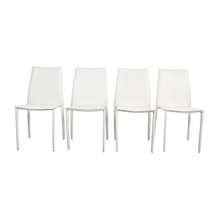 All Modern All Modern White Leather Dining Chairs nyc