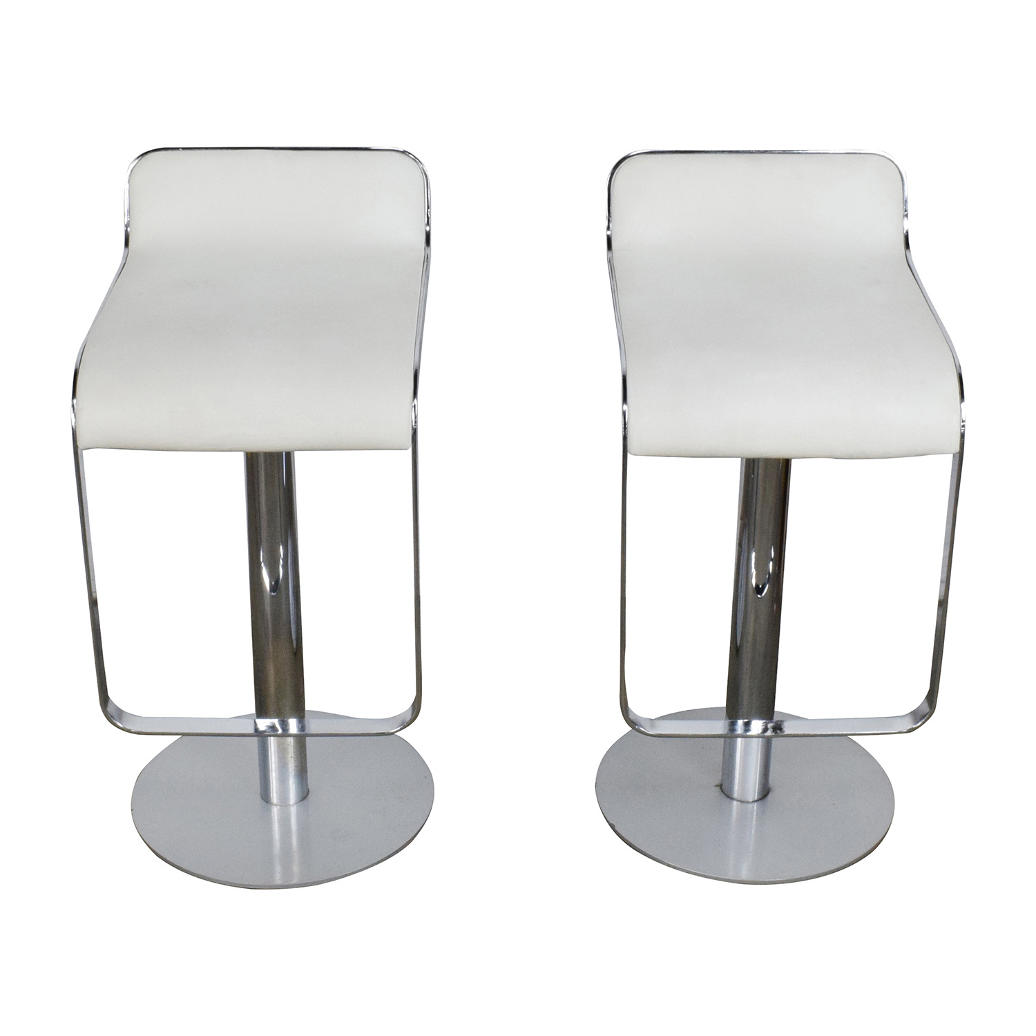 All Modern All Modern White Leather Bar Stools for sale