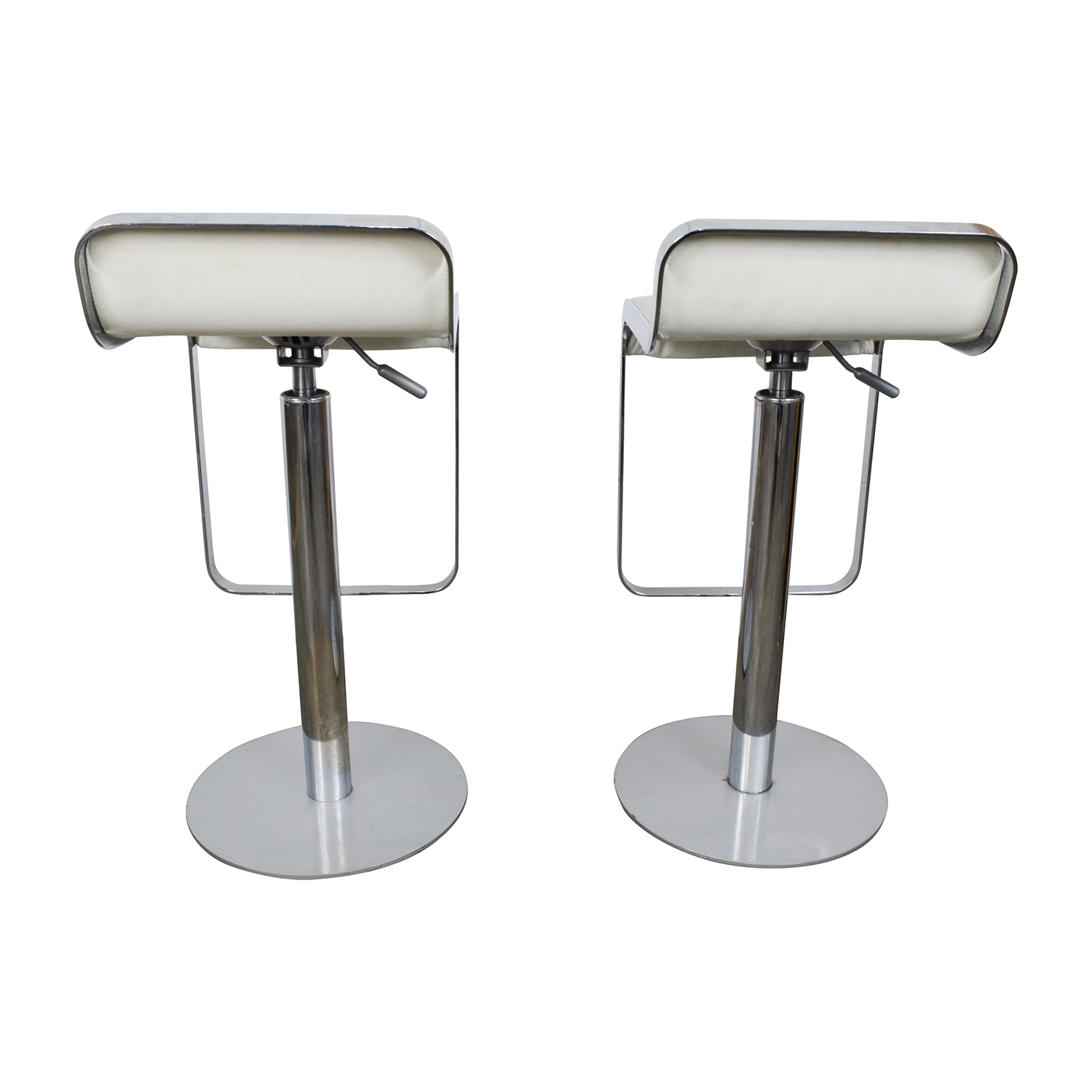 White Leather Barstools 35 Stylish Modern Adjustable White