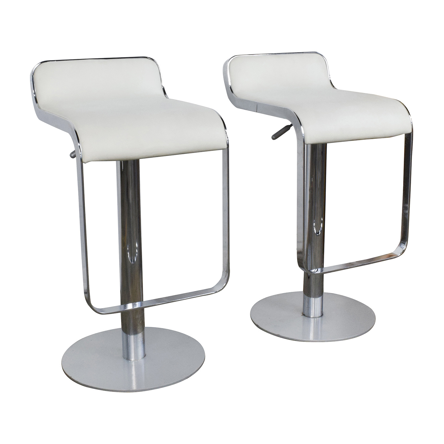 88 Off All Modern All Modern White Leather Bar Stools