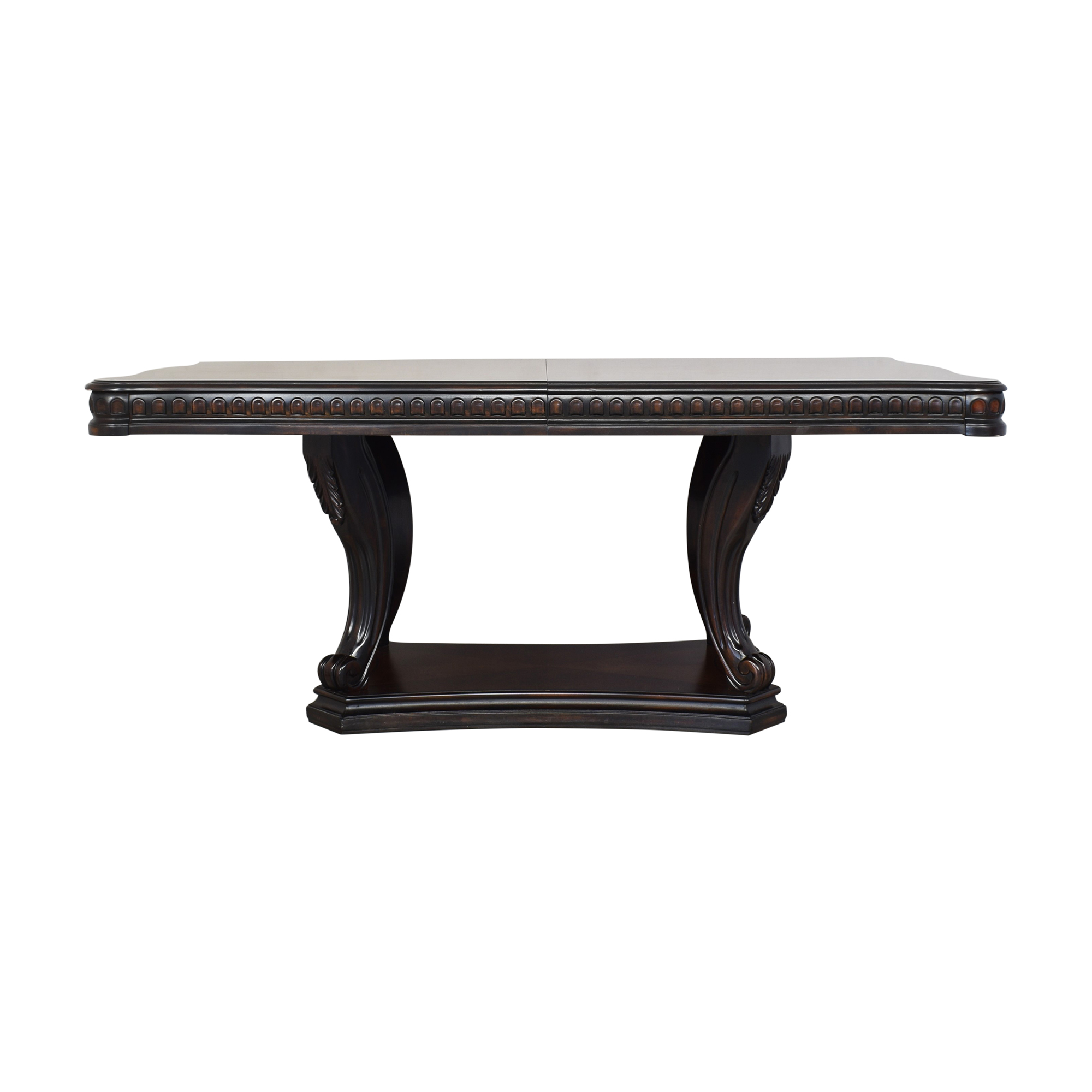 Raymour & Flanigan Raymour & Flanigan Bradford Heights Extendable Dining Table dimensions