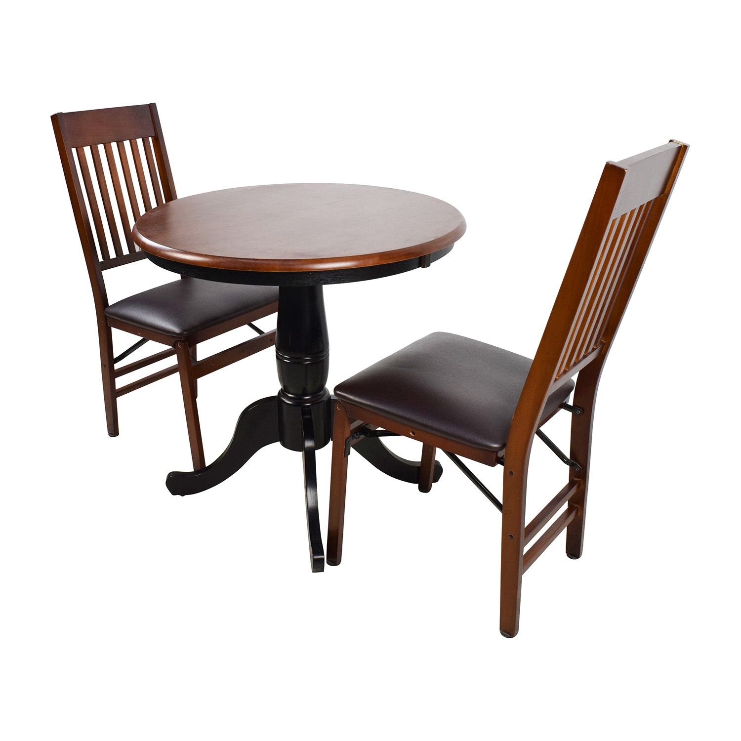 ... Pier 1 Pier 1 Keeran Bistro Rubbed Black Round Table Price ...