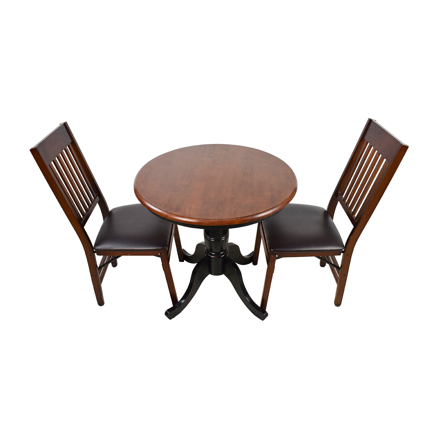 buy Pier 1 Keeran Bistro Rubbed Black Round Table Pier 1 Dining Sets