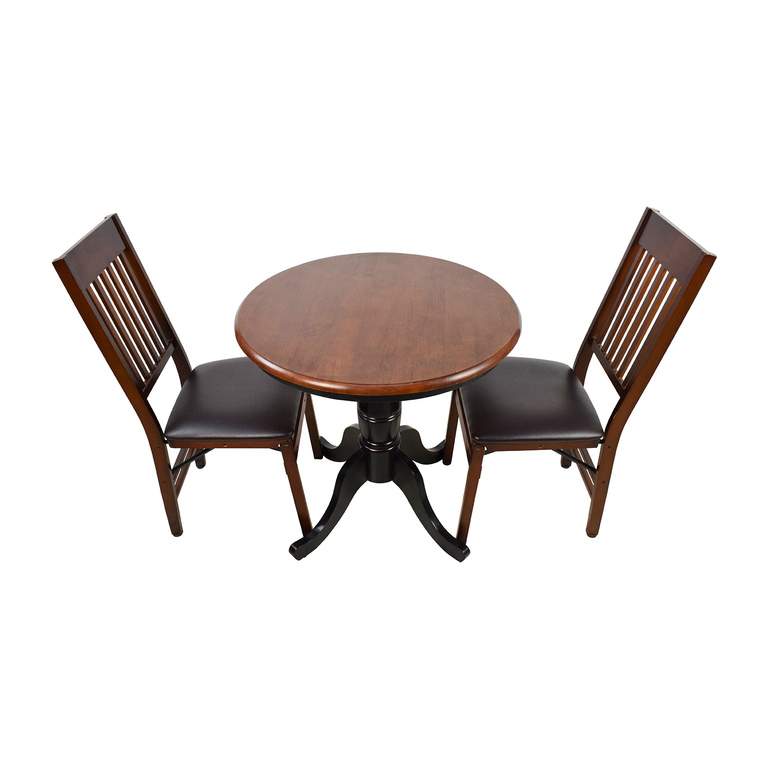 Pier 1 Pier 1 Keeran Bistro Rubbed Black Round Table