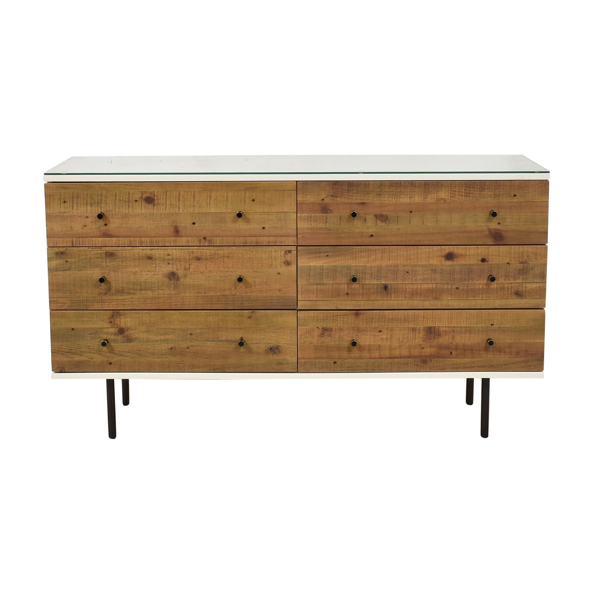 buy West Elm Reclaimed Six Drawer Dresser West Elm Storage