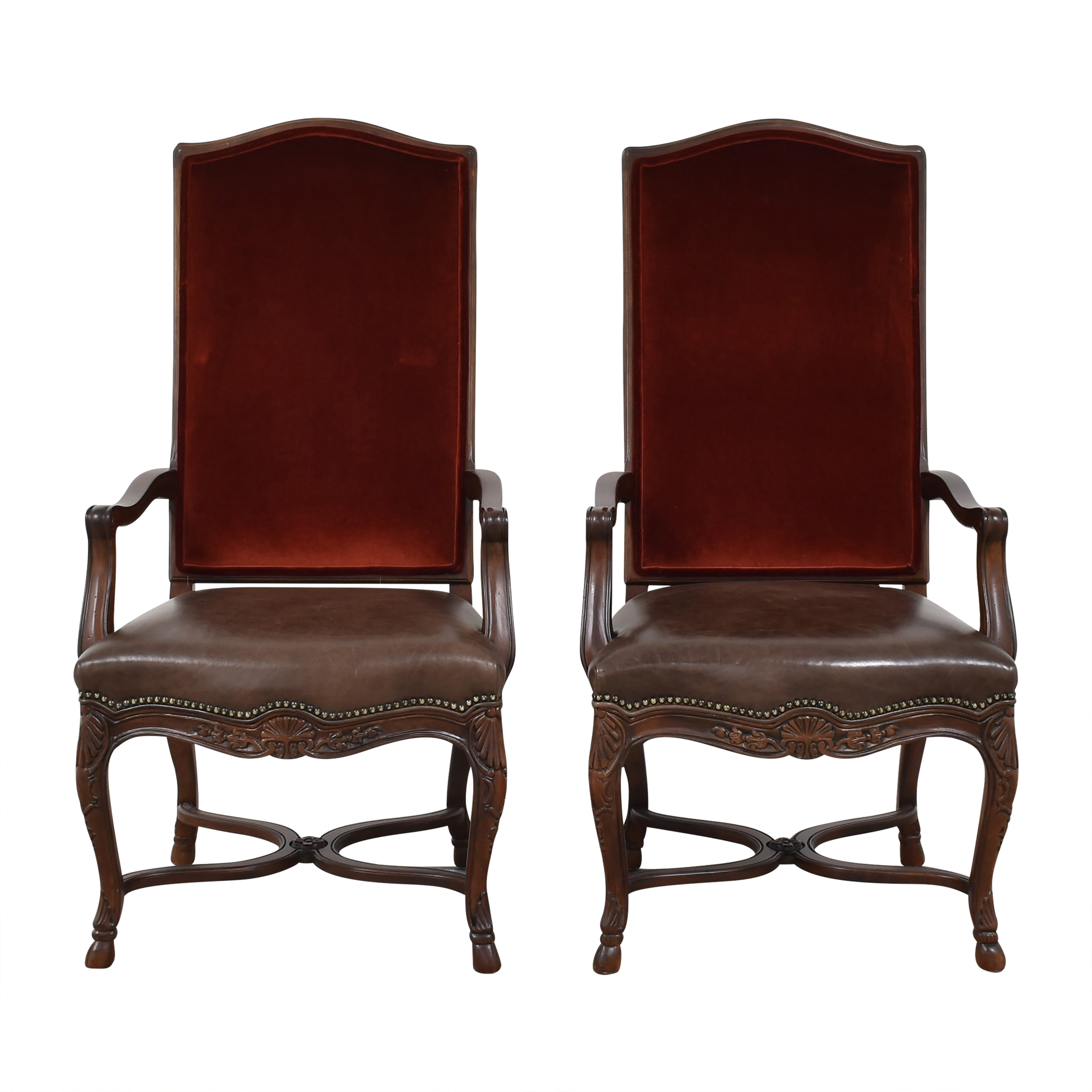 Safavieh Safavieh Hooved French Arm Chairs discount