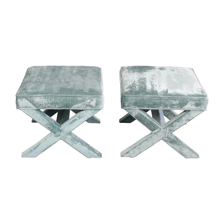 Jonathan Adler Velvet X Benches / Chairs