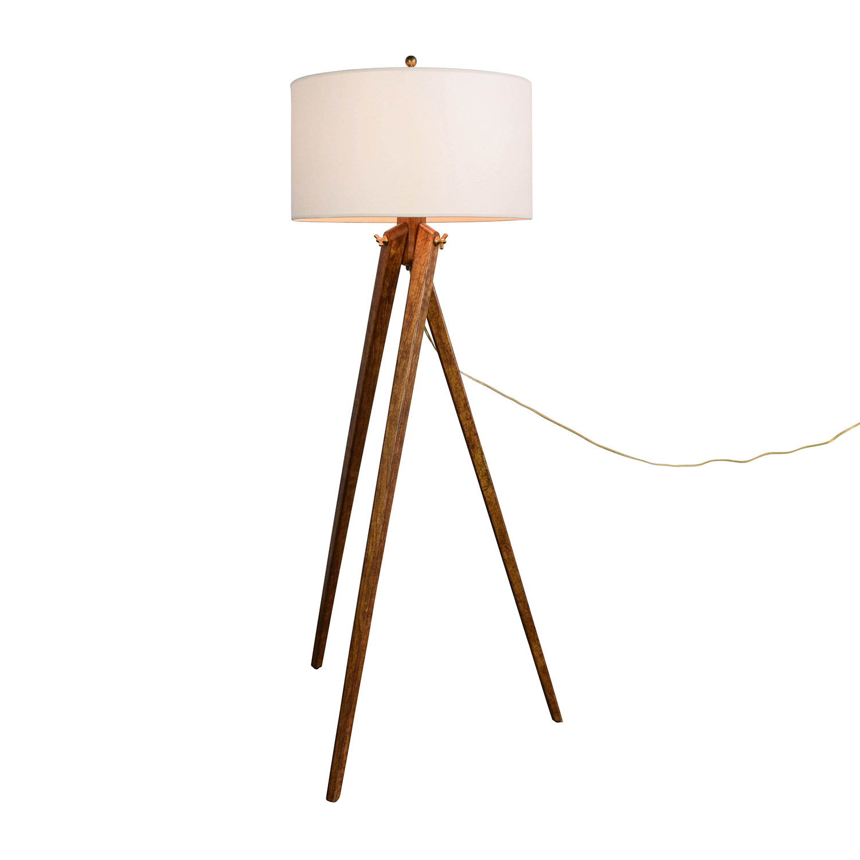 Restoration Hardware Restoration Hardware Wood Tripod Floor Lamp nj