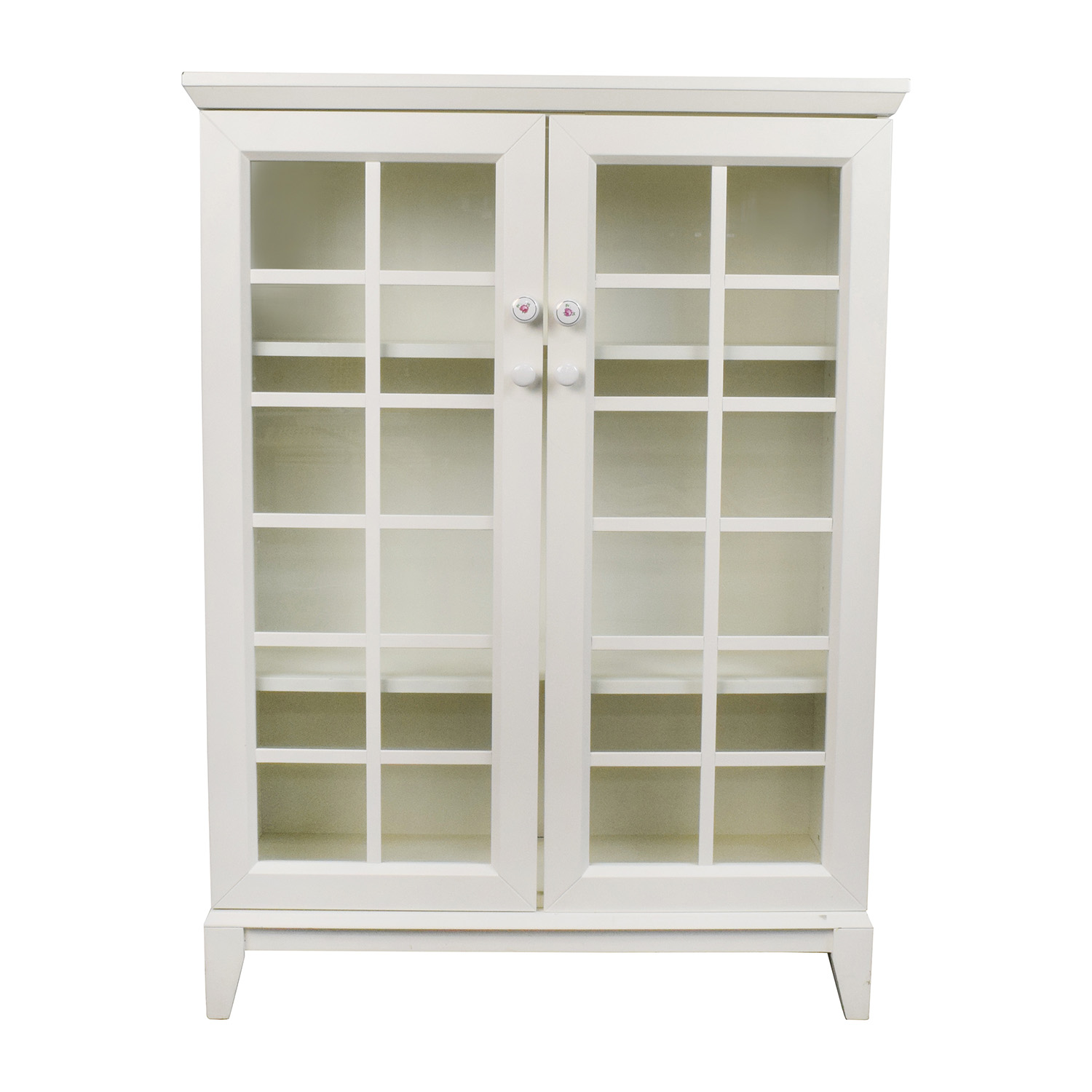 Vaisselier Etroit: Crate & Barrel Crate And Barrel White China