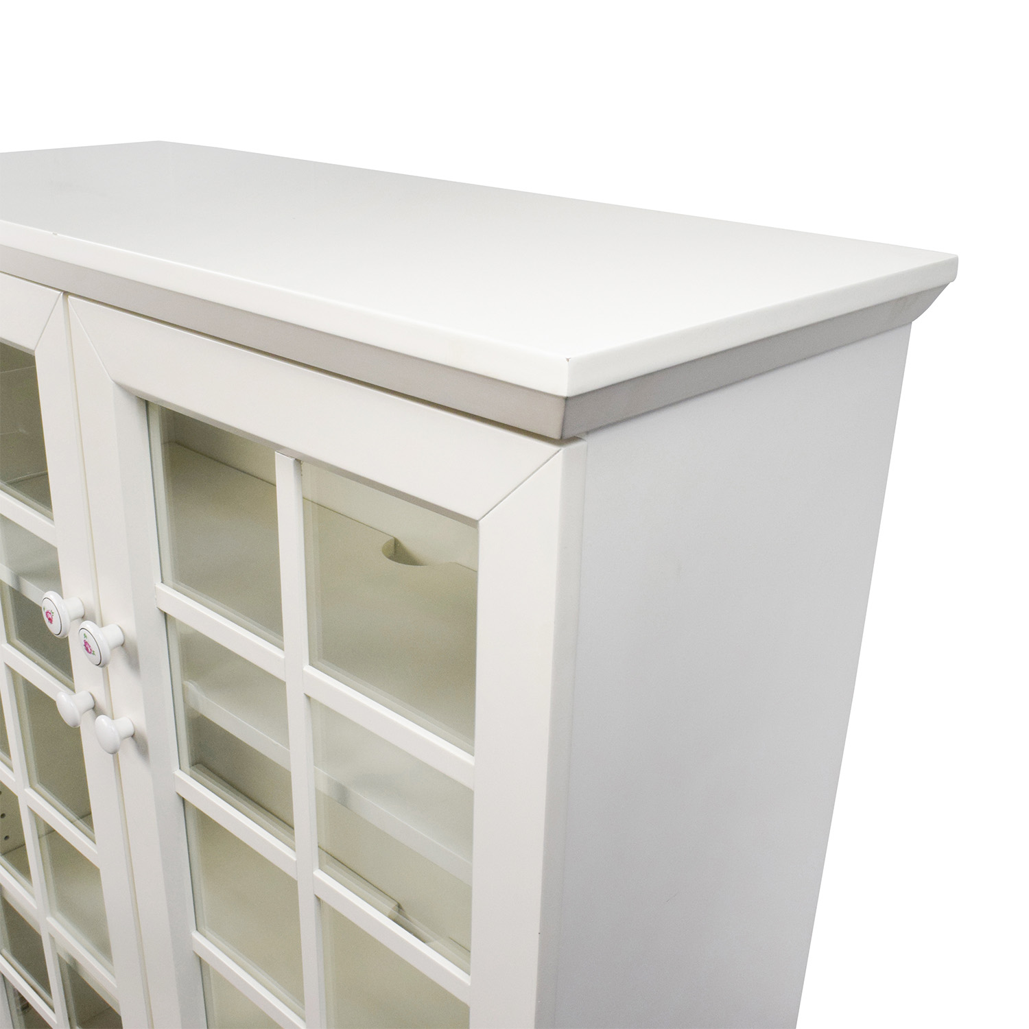 48 Off Crate And Barrel Crate And Barrel White China Cabinet Storage
