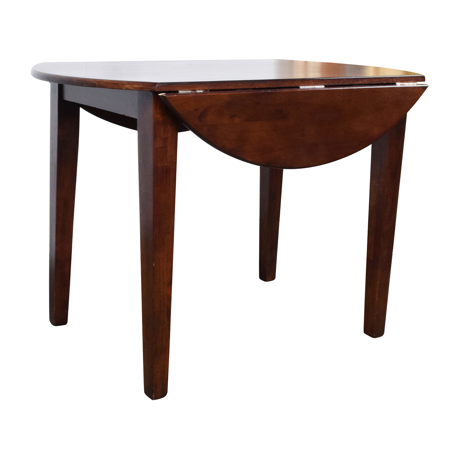 90 Off Round Wood Table With Folding Leaves Tables