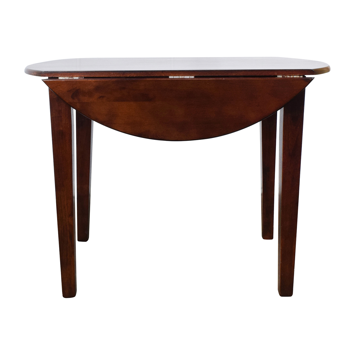 Round Wood Table with Folding Leaves on sale