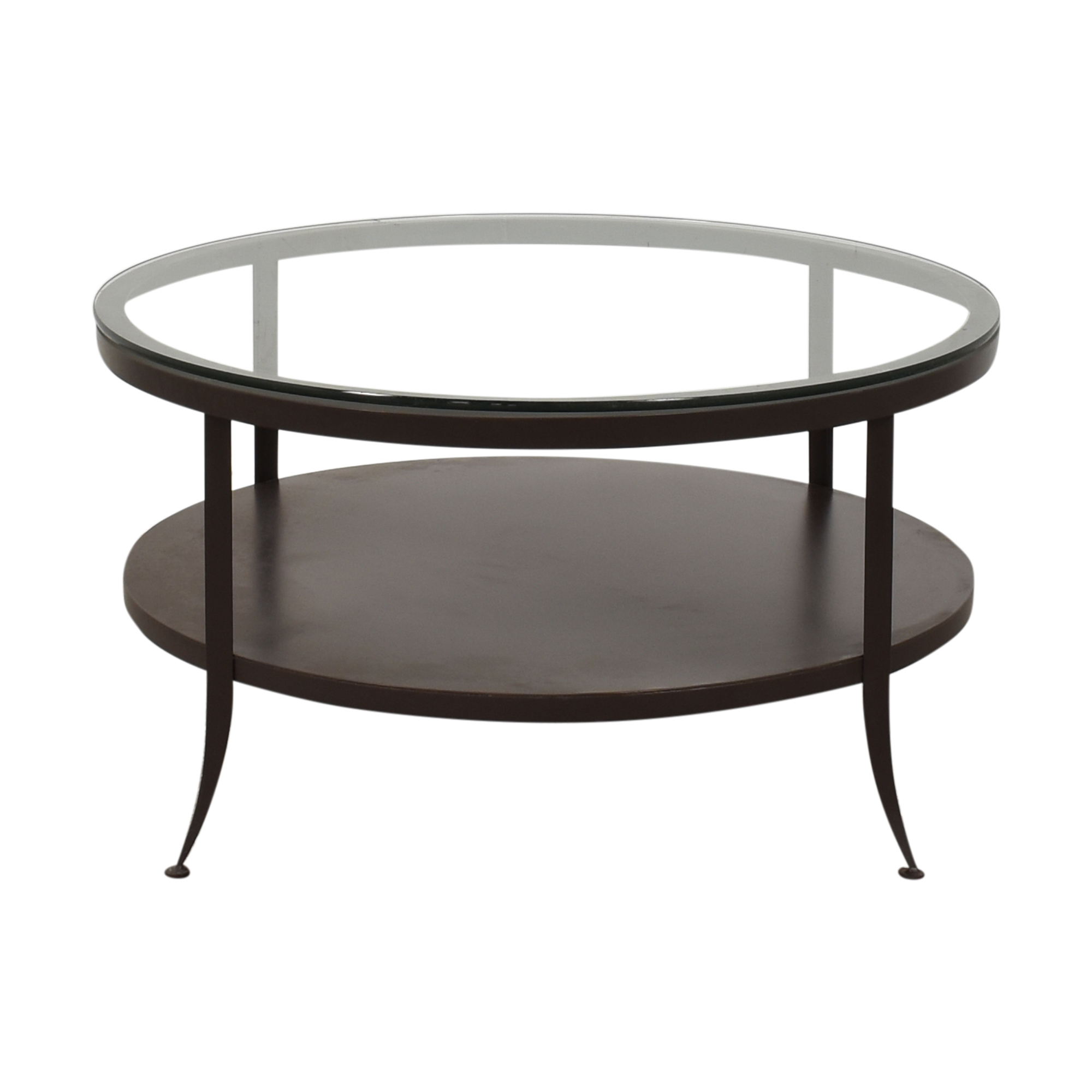 shop Crate & Barrel Clairemont Round Art Deco Coffee Table Crate & Barrel