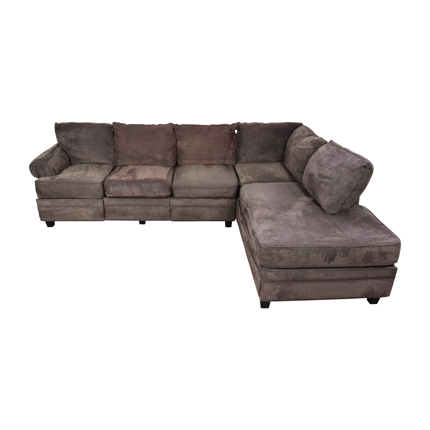 buy Bobs Furniture Brown Sectional with Storage Bobs Furniture Sectionals