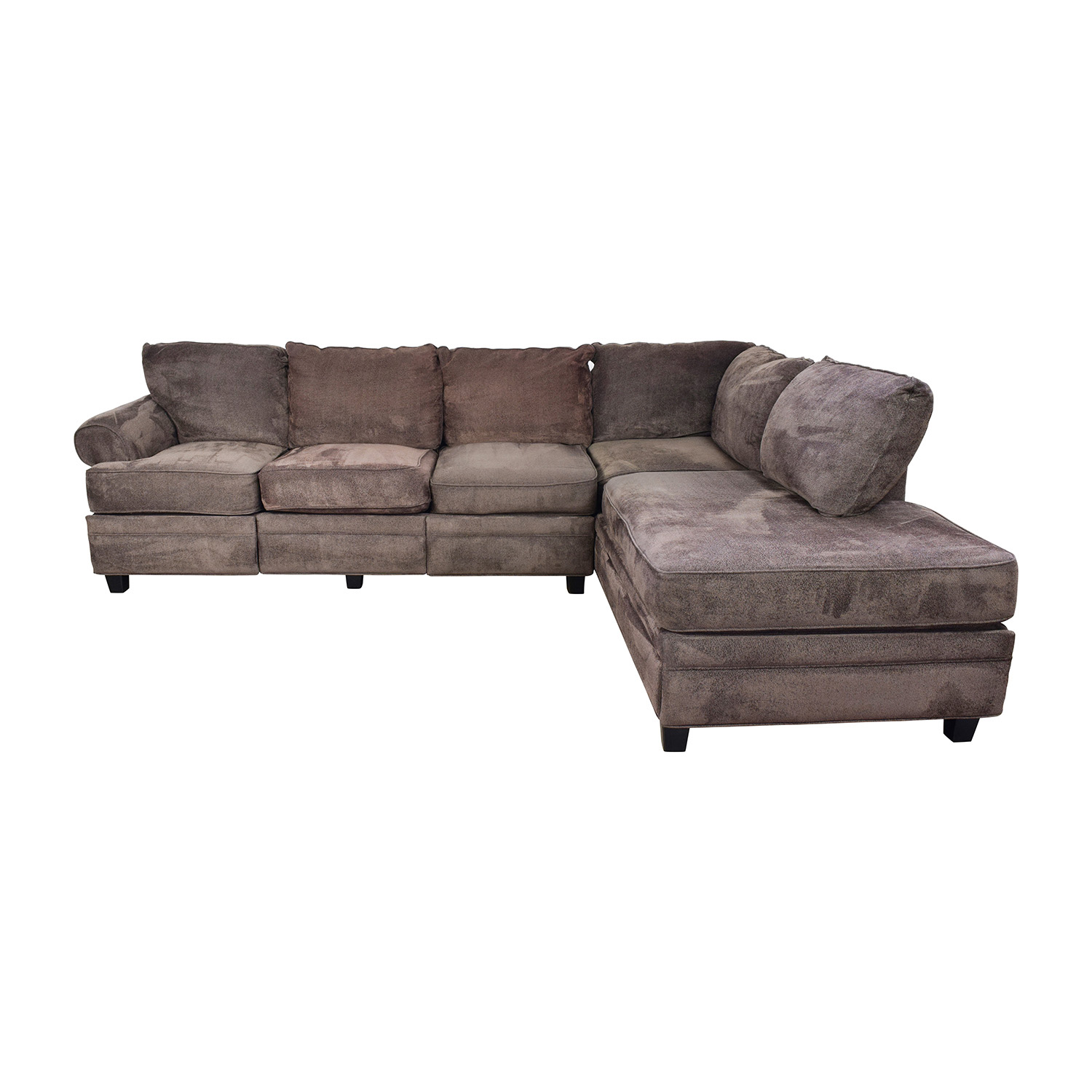 Bobs Furniture Bobs Furniture Brown Sectional with Storage nj