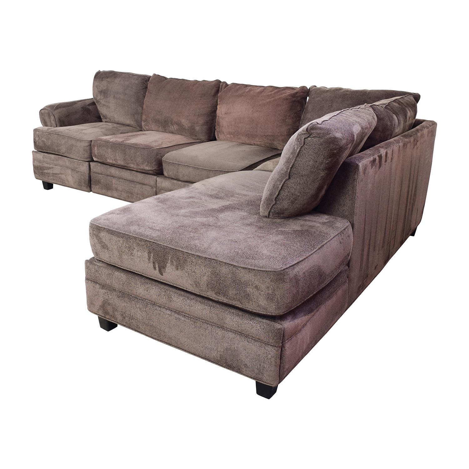 55 Off Bob S Furniture Bob S Furniture Brown Sectional