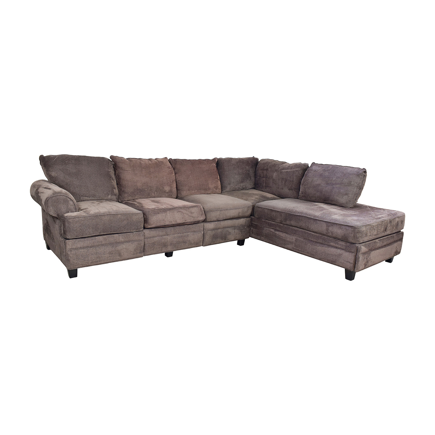 55 Off Bob 39 S Furniture Bob 39 S Furniture Brown Sectional With Storage Sofas