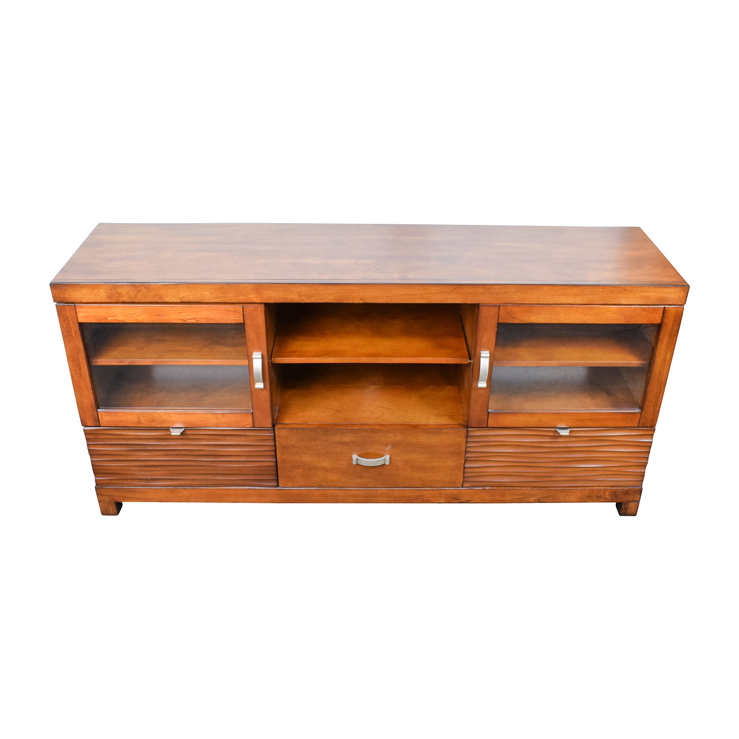 shop Bobs Furniture Wood TV Stand with Storage Bobs Furniture