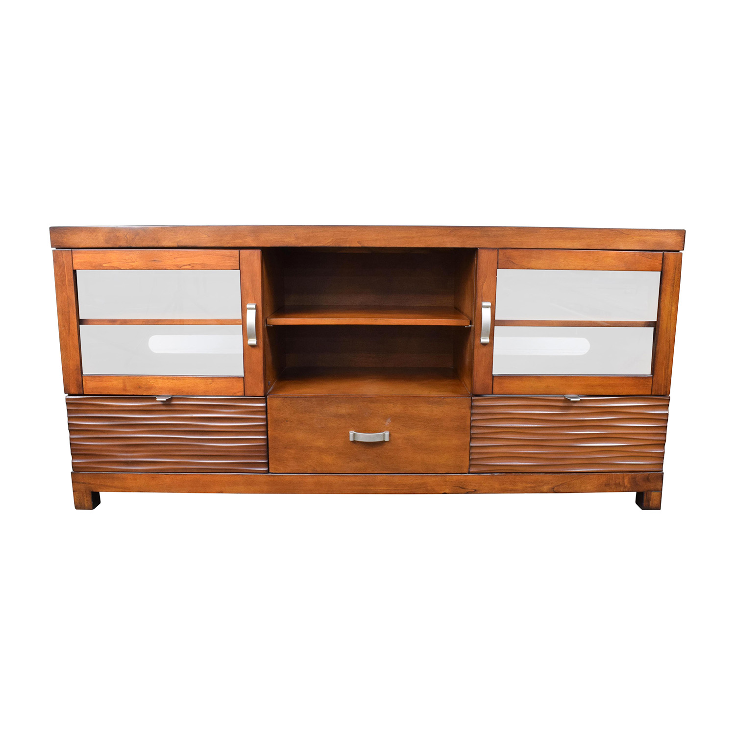 Bobs Furniture Wood TV Stand With Storage / Storage ...